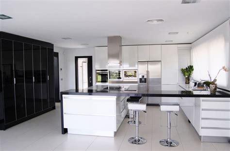 modern black and white kitchen designs modern white house kitchen decosee
