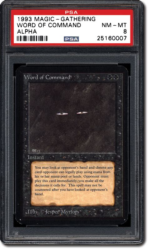 make a mtg card psa set registry collecting the 1993 magic the gathering