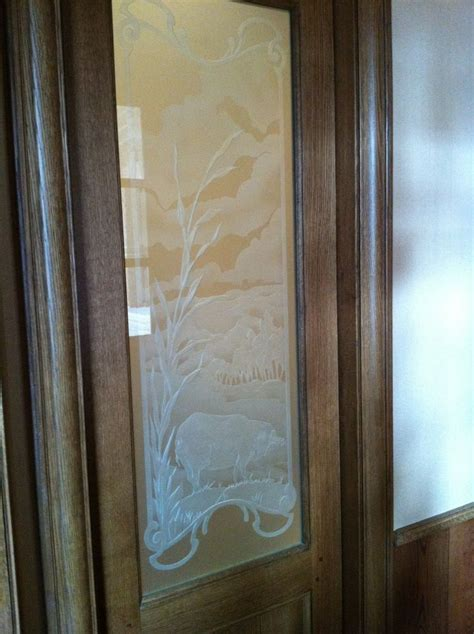 pantry door etched glass custom etched glass pantry door kitchen design ideas