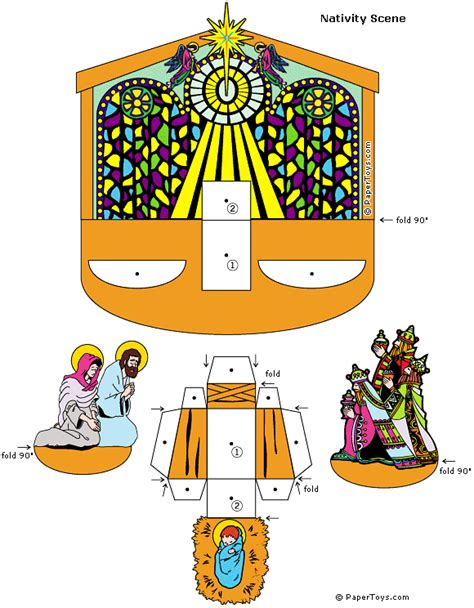 nativity paper craft nativity paper cutouts by papertoys