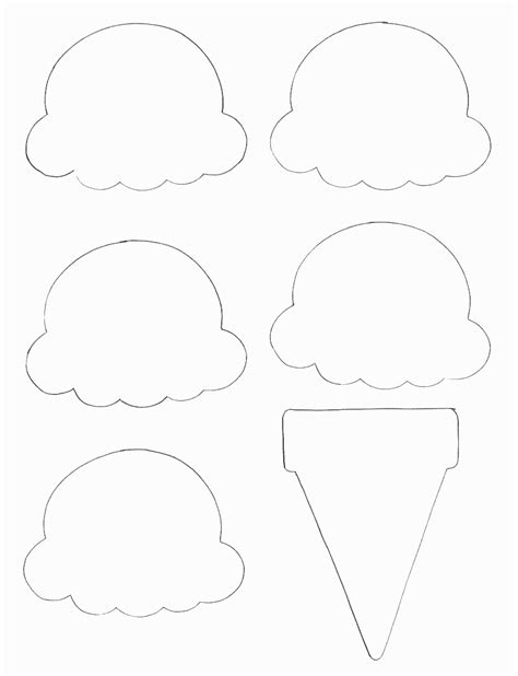 crafts templates food crafts print your cone template all