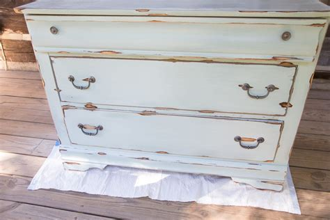 chalk paint distressing distressed dresser white paint sand to distressed