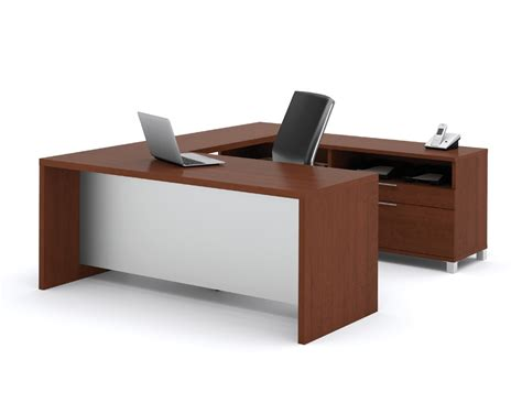 u shaped desk bestar pro linea u shaped desk