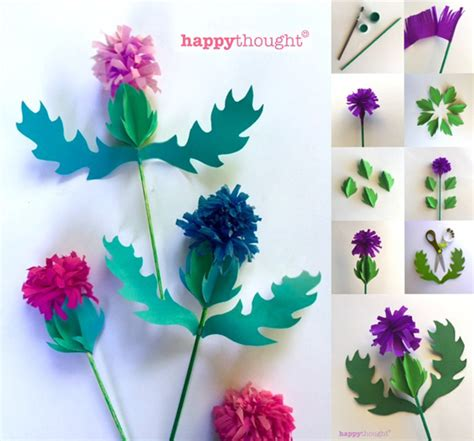 scottish crafts for how to make a paper thistle pdf templates