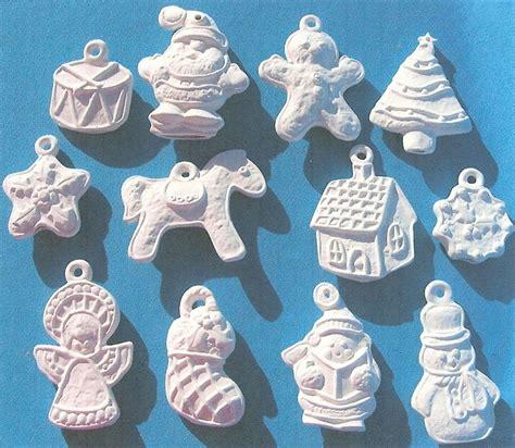 12 gingerbread cookie ornaments ceramic bisque u