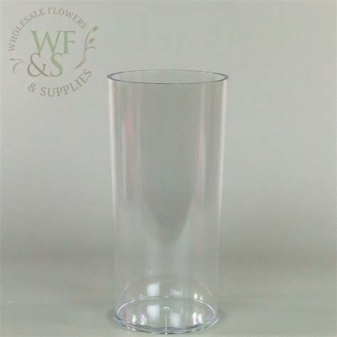 clear plastic cylinder vases plastic cylinder vase clear 5 quot x 10 quot wholesale flowers and supplies