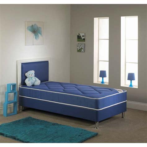 divan bed set chelsea single divan bed set with mattress in blue