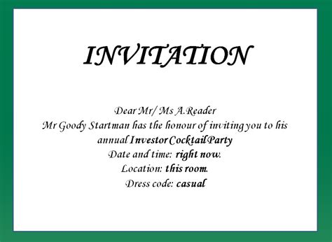 how to write a invitation how to write invitation letter for cover letter