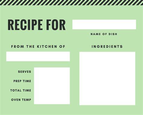 make a recipe card free recipe card maker design a custom recipe card