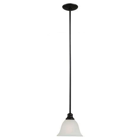 pendant lights home depot sea gull lighting windgate 1 light heirloom bronze mini
