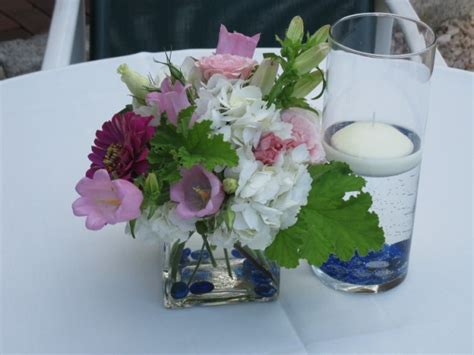 outdoor table centerpieces photo gallery cocktail table centerpieces blue floral