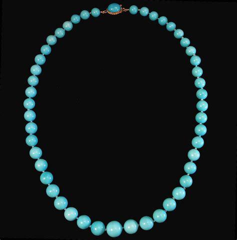 sleeping turquoise bead necklace 18k sleeping turquoise 9 4 13mm bead