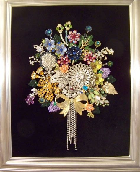 how to make a vintage jewelry tree my bouquet of rhinestones created with vintage brooches