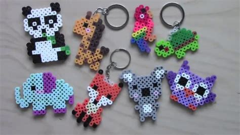how to make beaded animals easy perler bead animal keychains magnets 1