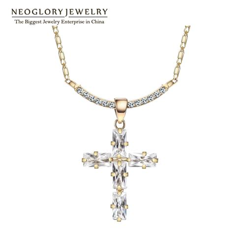 crosses for jewelry neoglory rhinestone 14k gold plated crosses religious