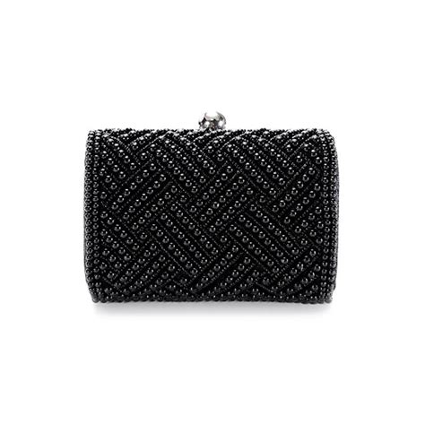 beaded clutch bag black beaded clutch bag vintage style clutch