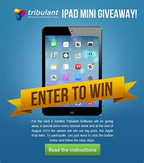 ipad mini giveaway contest