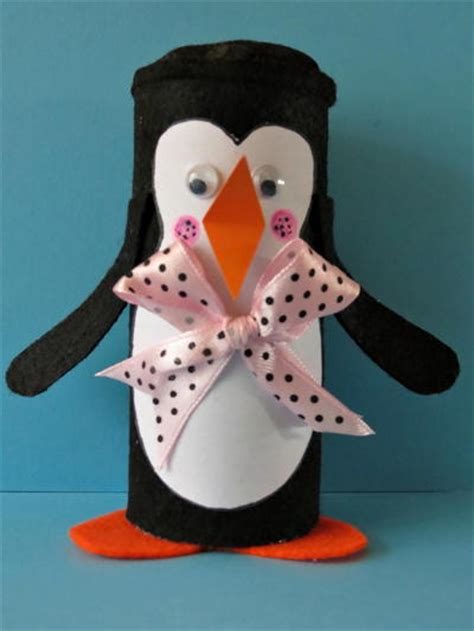 winter paper crafts for winter penguin toilet paper roll craft favecrafts