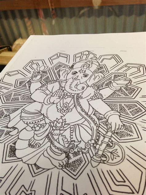 ganesh with mandala tattoos pinterest mandalas and