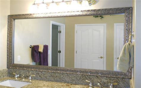 frames for large bathroom mirrors brushed nickel bathroom mirror as sweet wall decoration
