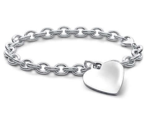 silver bracelet children s tag bracelet in sterling silver 6 1 2
