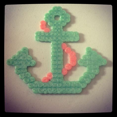 easy perler beautiful anchor made from perler easy and