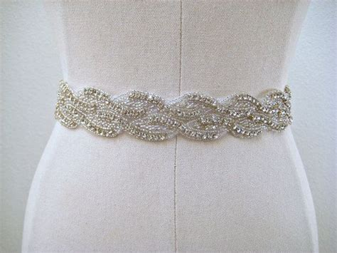 beaded bridal belt bridal beaded sparkly wedding sash belt wave