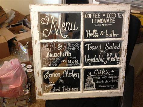 chalkboard diy wedding antique window menu chalkboard diy wedding