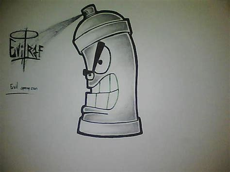 spray paint by sketch graffiti spray can drawing easy тo ĸnow