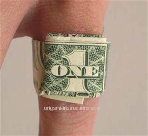 dollar bill ring origami origami dollar bill ring origami