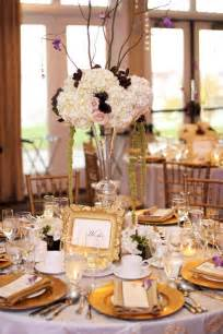 purple gold decorations purple and gold wedding centerpieces for luxurious wedding