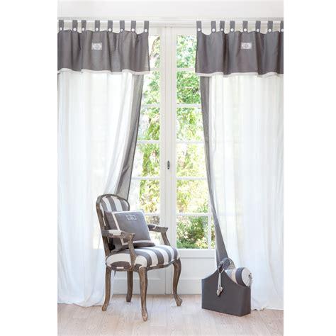 rideaux gris et blanc my