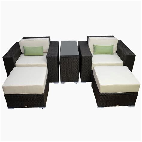 rattan wicker patio furniture discount until 60 outsunny 5pc outdoor pe rattan wicker