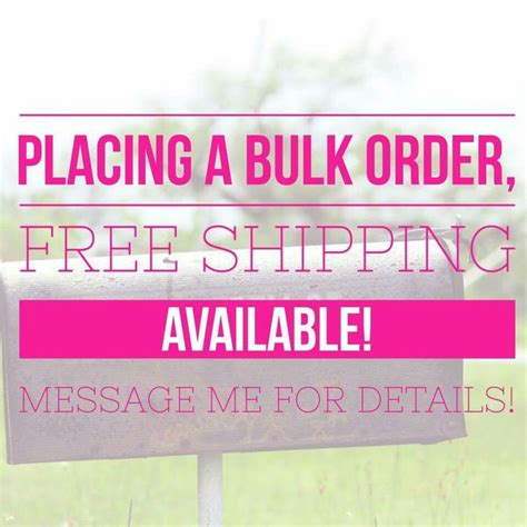 order in bulk free ship with bulk order message me with your