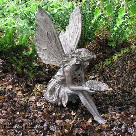 flower garden ornaments bronze effect sitting flower bronze garden