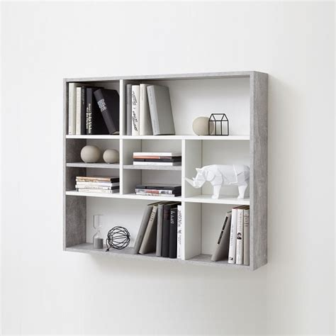 wall shelving units andreas wall mounted shelving unit in white and light
