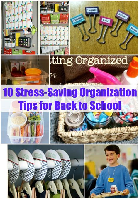 ideas for to make at school 10 stress saving organization tips for back to school
