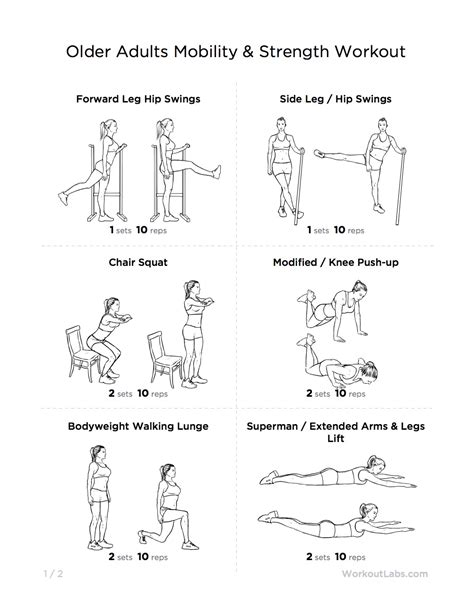 work for adults adults mobility strength at home workout pack for