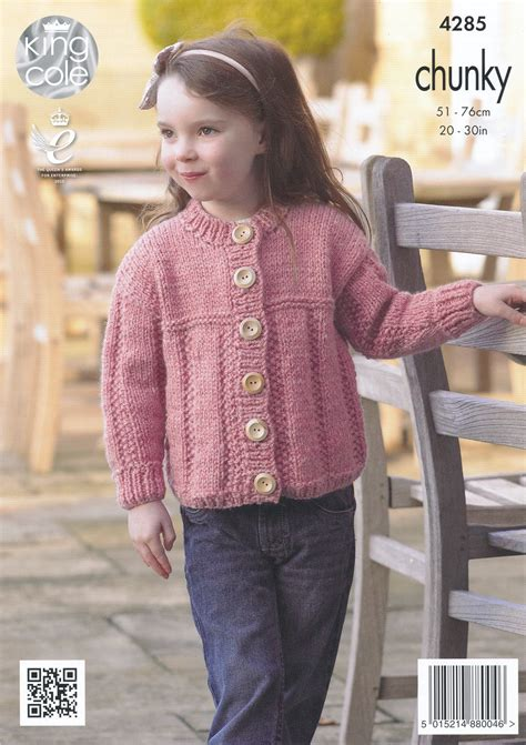 chunky knit childrens patterns free chunky knitting pattern king cole childrens sweater