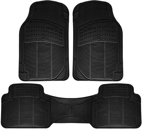 rubber st floor mats for suvs trucks vans 3pc set all weather rubber