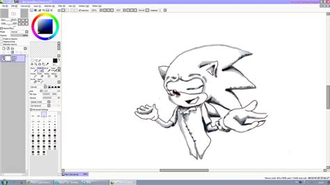 paint tool sai 2 deviantart paint tool sai sonic the hedgehog by supersaturationwolf