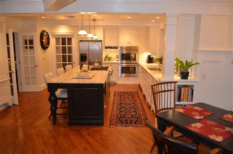 Kitchen Island With Cooktop And Seating kitchen breakfast nook traditional kitchen new york
