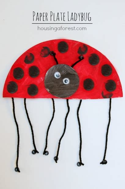 ladybug paper plate craft paper plate ladybug housing a forest