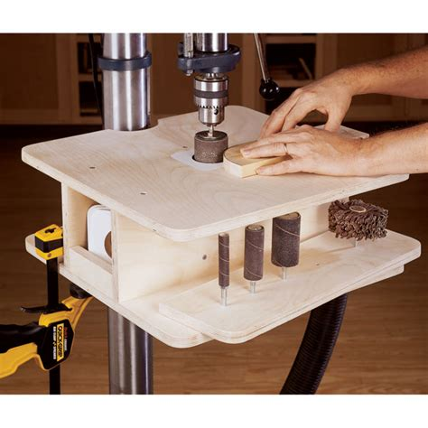 woodworking drill press table drill press drum sanding table woodworking plan from wood