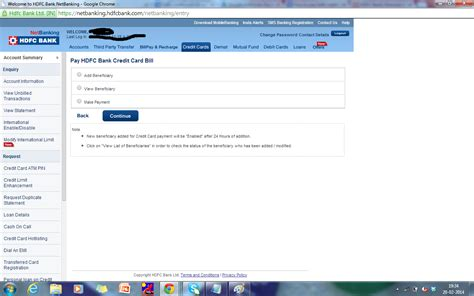 make payment on credit card hdfc credit card bill payment bill payment www