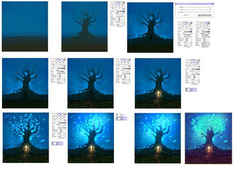paint tool sai luminosity tutorial magic tree step by step tutorial by ryky on deviantart