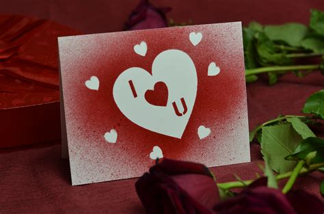 make an valentines card ideas for s day stencil cards