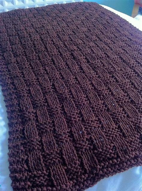 basket weave knitting pattern chunky basket weave blanket throw knitting pattern by