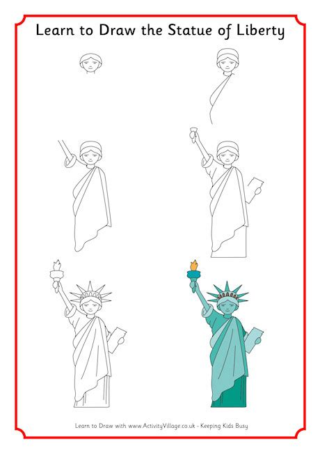 learn to draw the statue of liberty