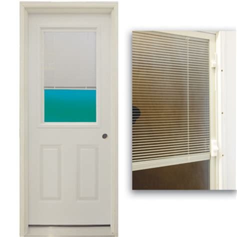 30 exterior door with window 30 quot 1 2 lite exterior steel door unit with mini blinds